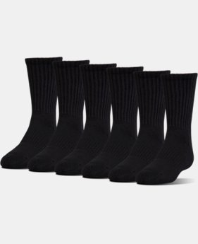 UA Charged Cotton® 2.0 Crew Socks – 6-Pack  2 Colors $29.99