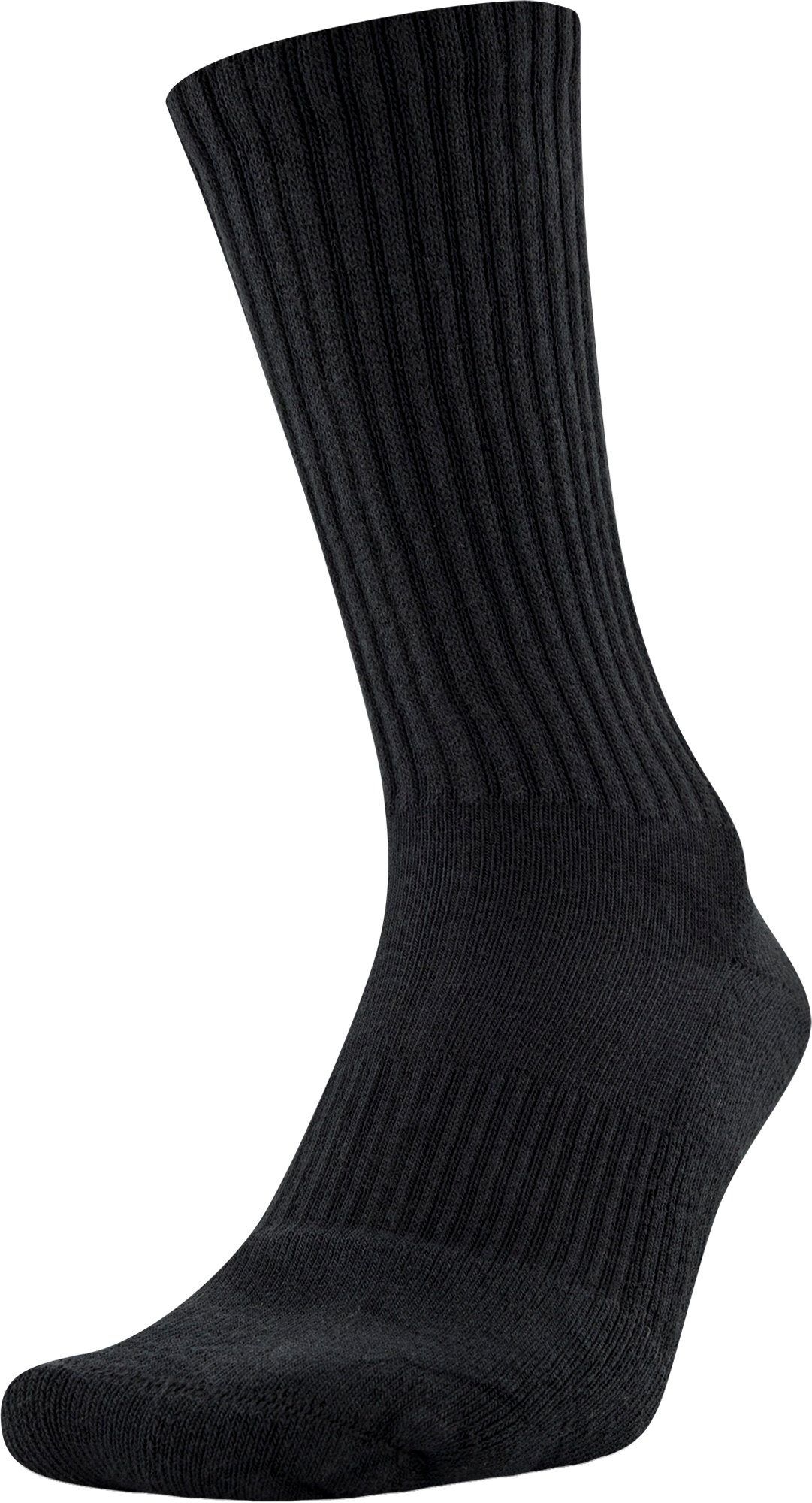 UA Charged Cotton® 2.0 Crew Socks – 6-Pack, Black ,