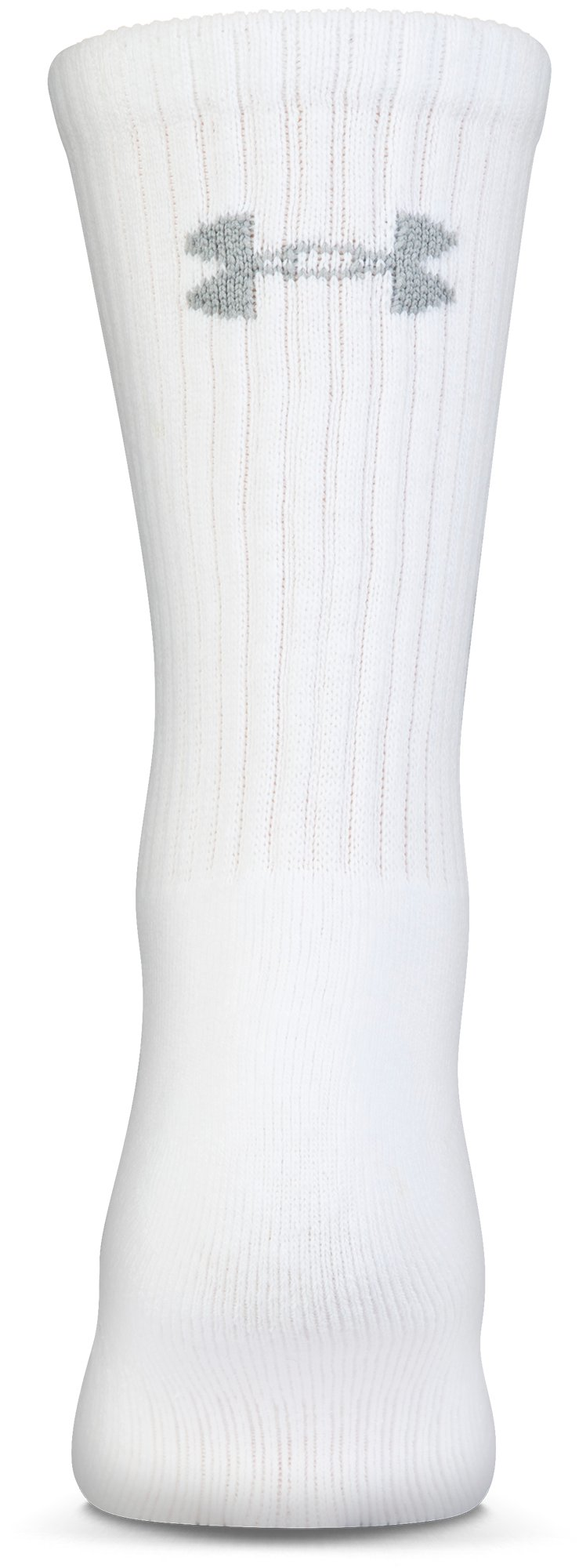 UA Charged Cotton® 2.0 Crew Socks – 6-Pack, White,