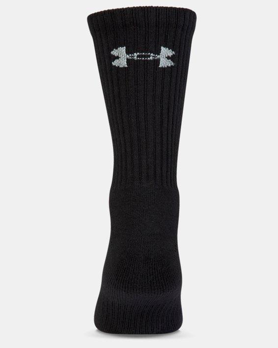 Kids' UA Charged Cotton 2.0 Crew Socks - 6-Pack, Black, pdpMainDesktop image number 2
