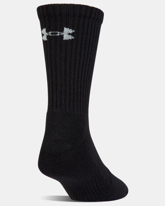 Kids' UA Charged Cotton 2.0 Crew Socks - 6-Pack, Black, pdpMainDesktop image number 3