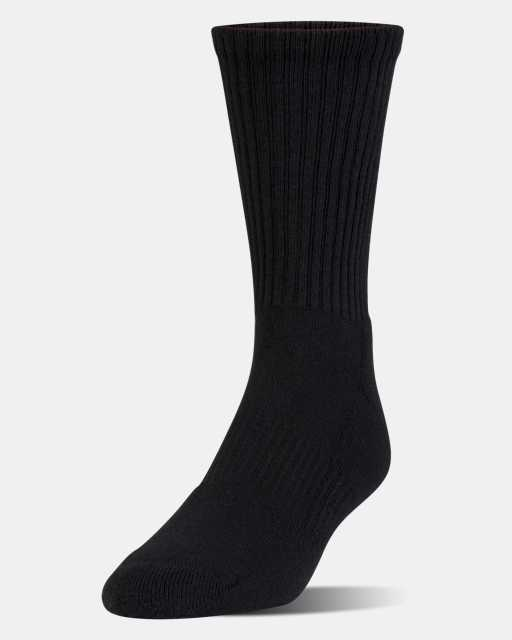 Kids' UA Charged Cotton 2.0 Crew Socks - 6-Pack