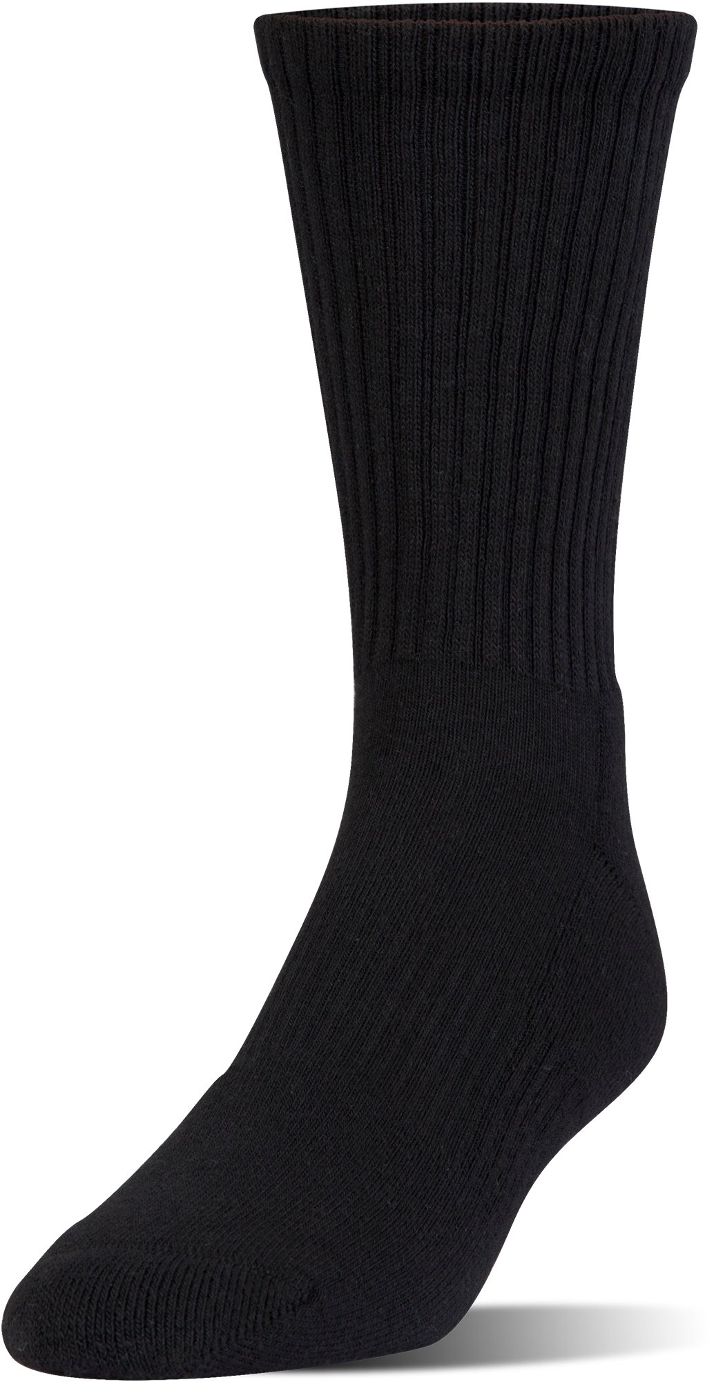 Kids' UA Charged Cotton 2.0 Crew Socks – 6-Pack, Black ,