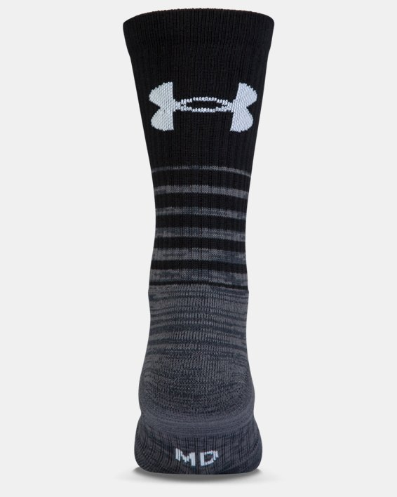 UA Phenom Twisted Crew Socks - 3-Pack, Black, pdpMainDesktop image number 6