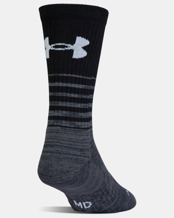 UA Phenom Twisted Crew Socks - 3-Pack, Black, pdpMainDesktop image number 9