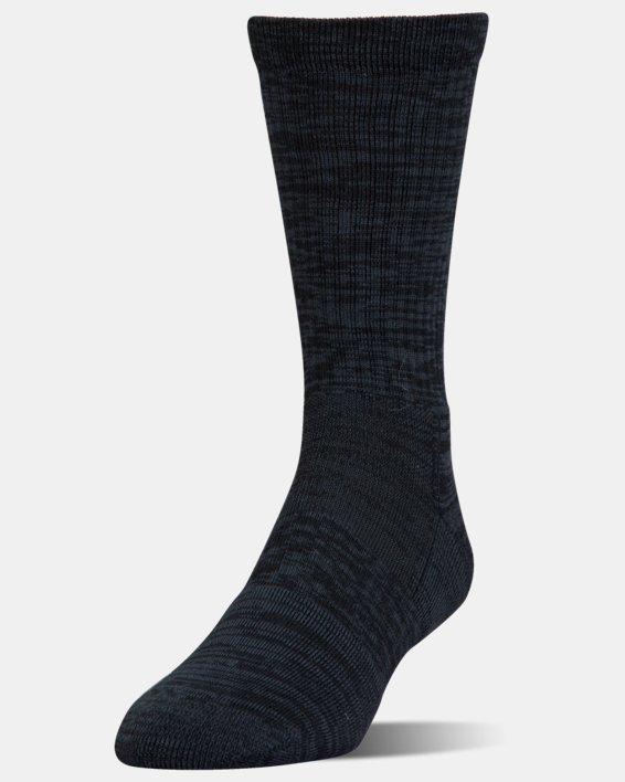UA Phenom Twisted Crew Socks - 3-Pack, Black, pdpMainDesktop image number 2
