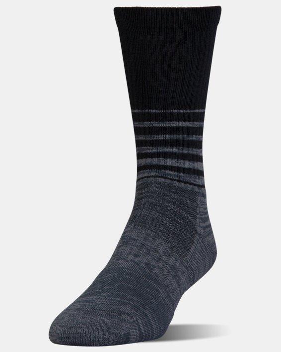 UA Phenom Twisted Crew Socks - 3-Pack, Black, pdpMainDesktop image number 3