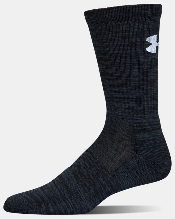 UA Phenom Twisted Crew Socks - 3-Pack, Black, pdpMainDesktop image number 11