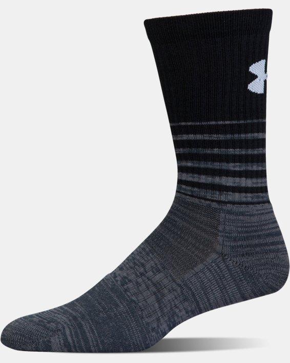 UA Phenom Twisted Crew Socks - 3-Pack, Black, pdpMainDesktop image number 12