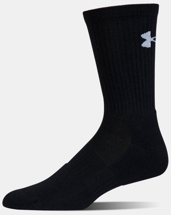 UA Phenom Twisted Crew Socks - 3-Pack, Black, pdpMainDesktop image number 10
