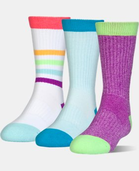 Best Seller Kids' UA NEXT Statement 3.0 Crew Socks 3-Pack  2 Colors $19