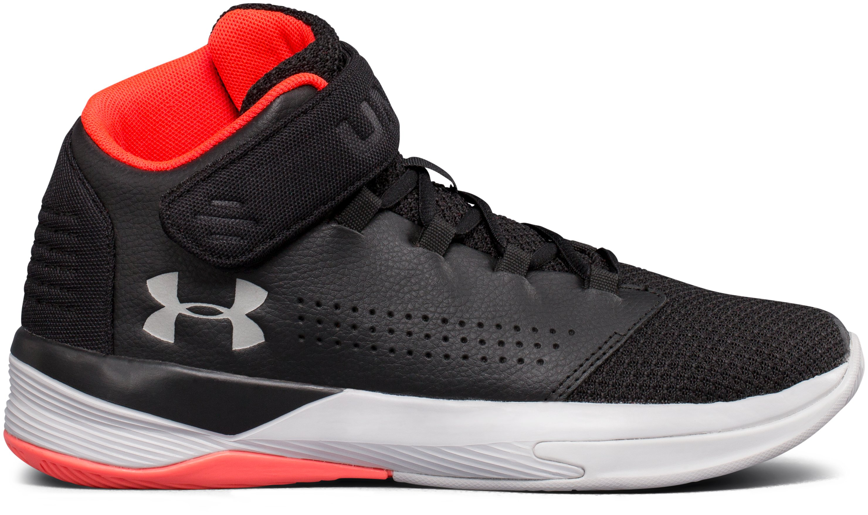 Boys' Grade School UA Get B Zee Basketball Shoes, Black