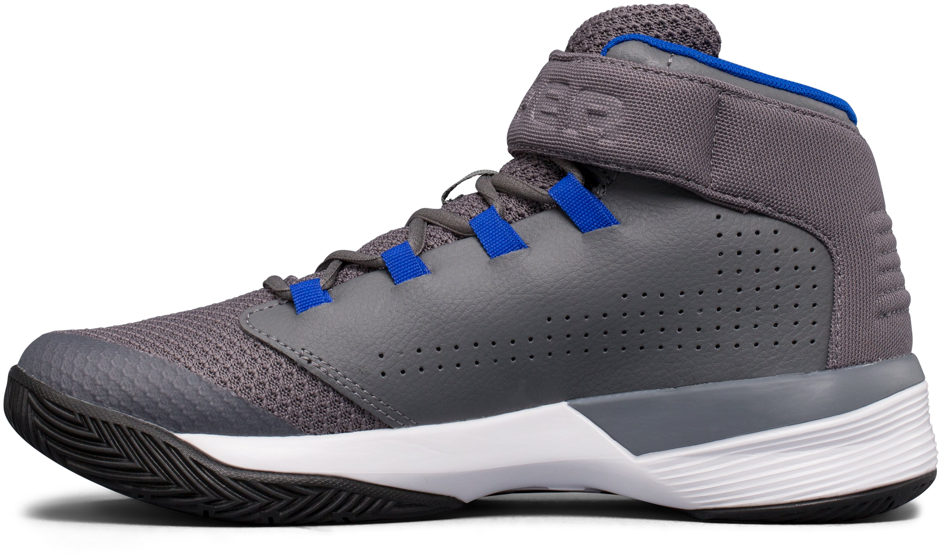 Boys' Grade School UA Get B Zee Basketball Shoes, Graphite, undefined