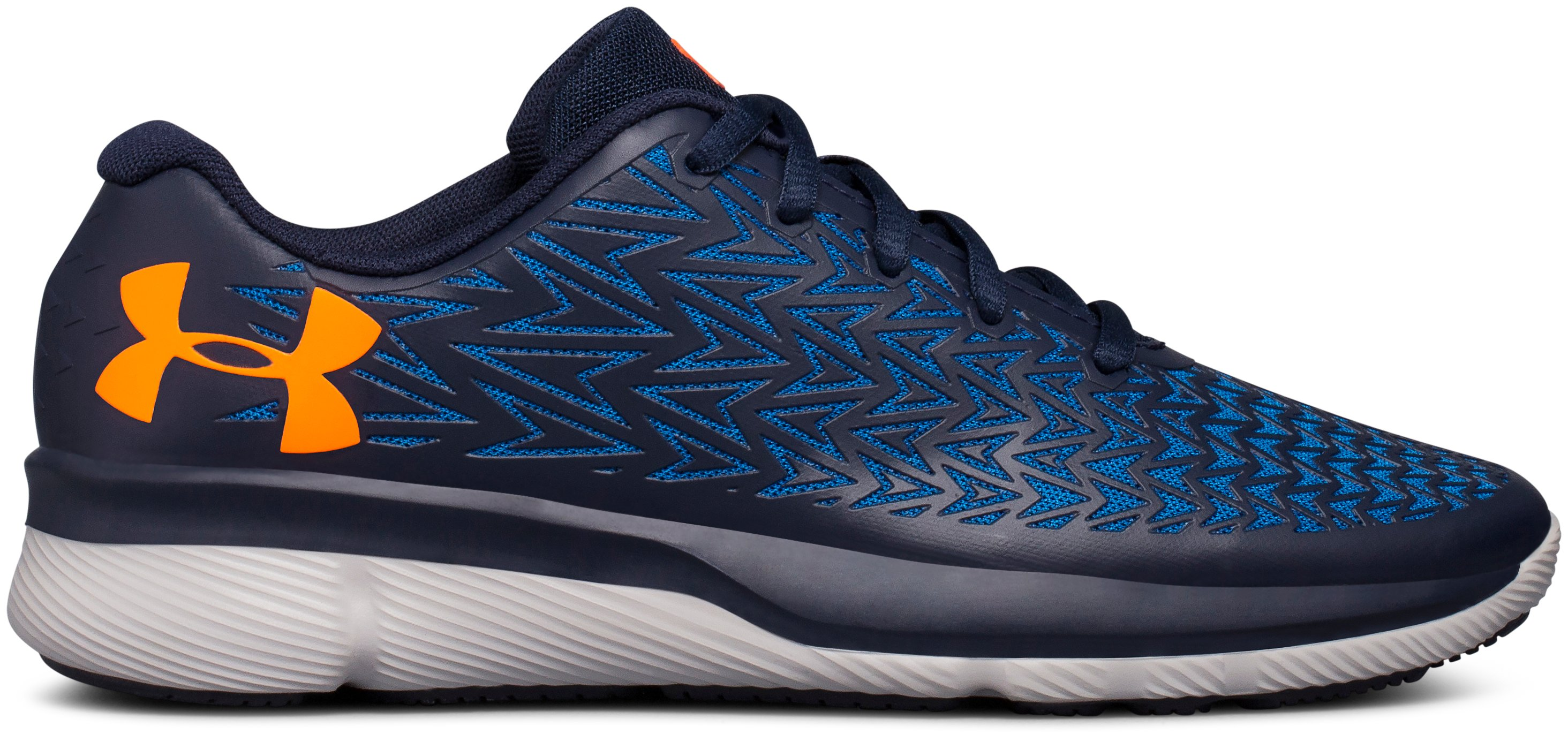 Boys' Grade School UA ClutchFit® RebelSpeed 2 Running Shoes, Midnight Navy,