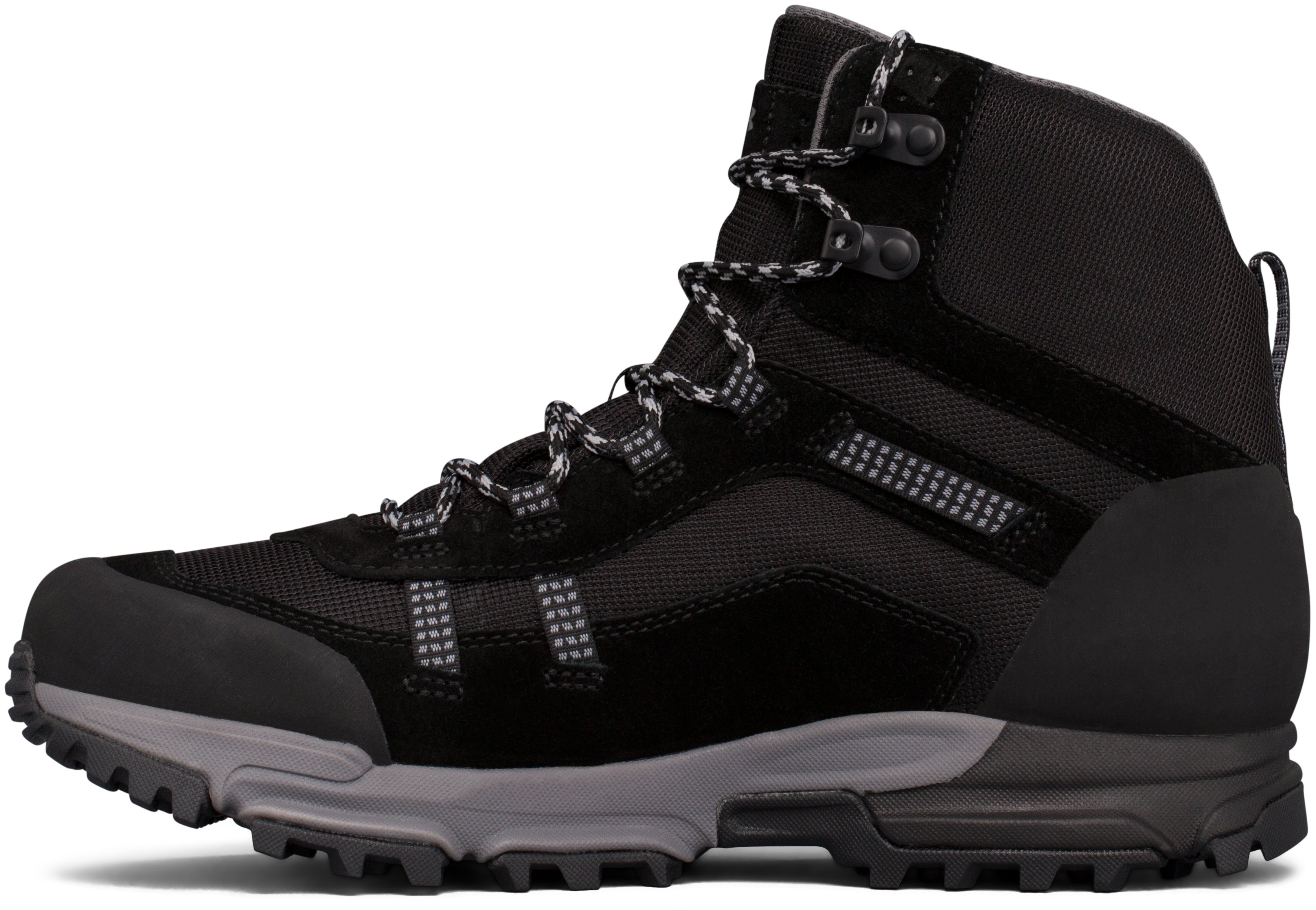 Men's UA Post Canyon Mid Waterproof Hiking Boots, Black ,