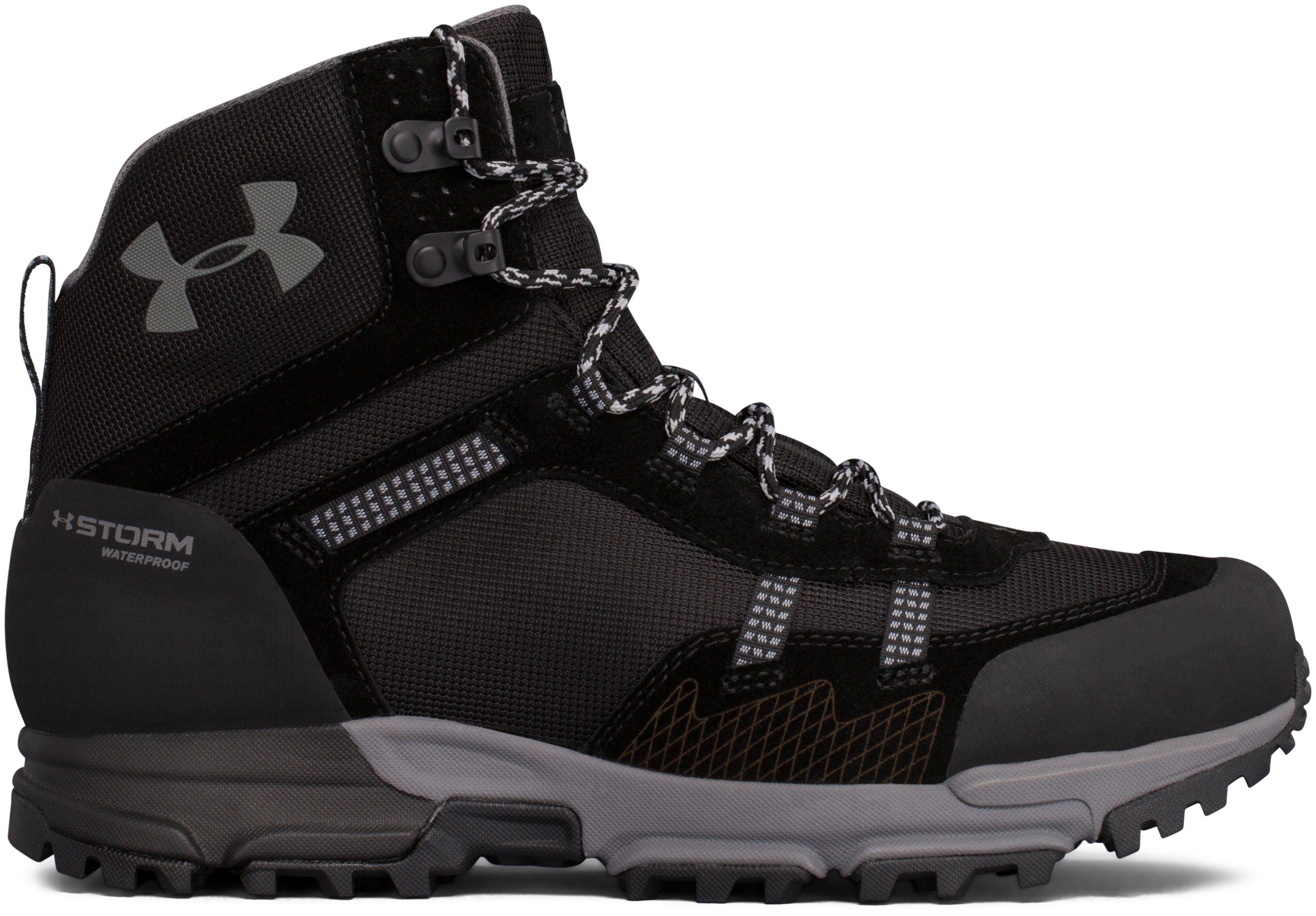 Men's UA Post Canyon Mid Waterproof Hiking Boots, Black