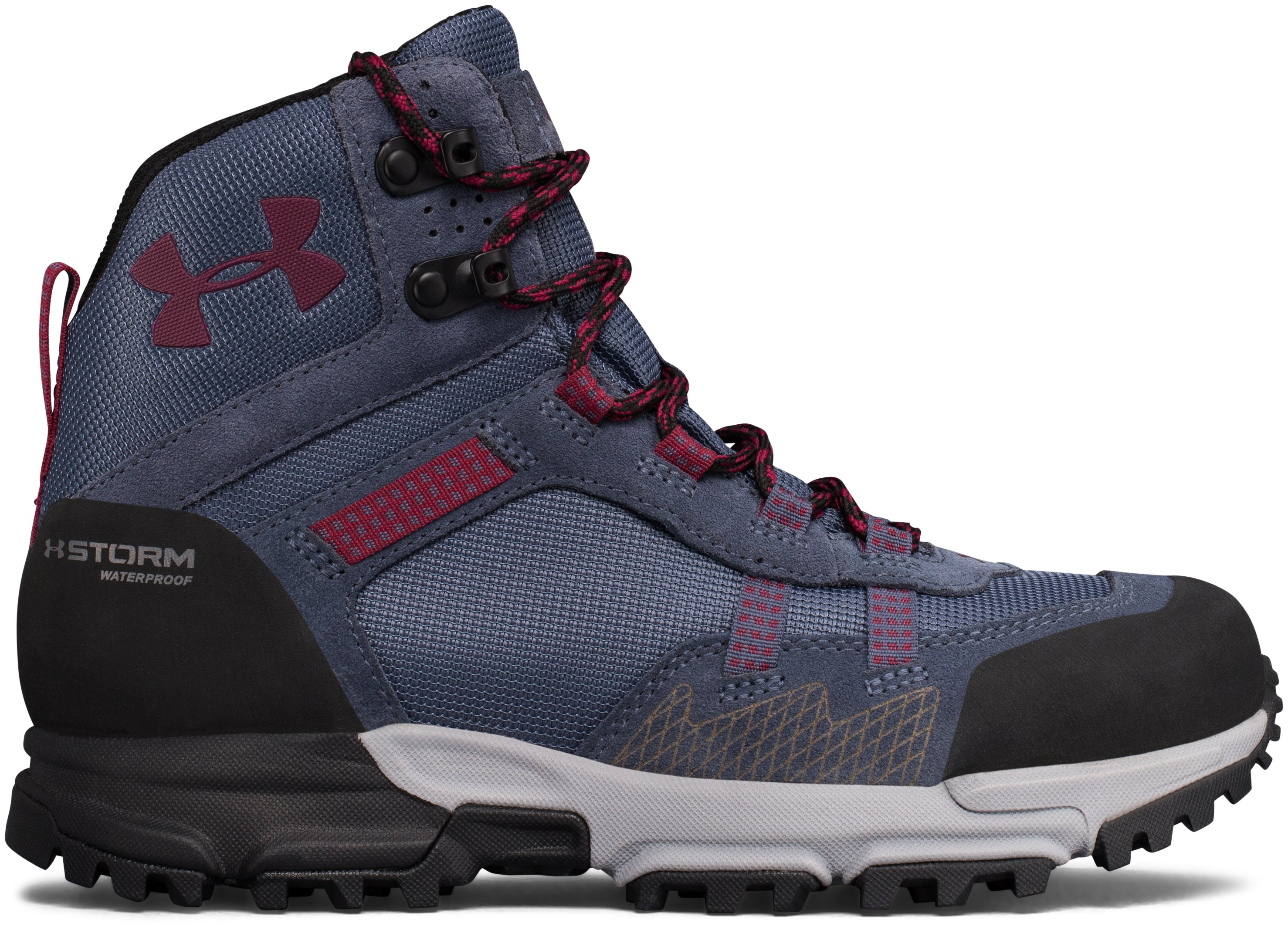 Women's UA Post Canyon Mid Waterproof Hiking Boots, APOLLO GRAY