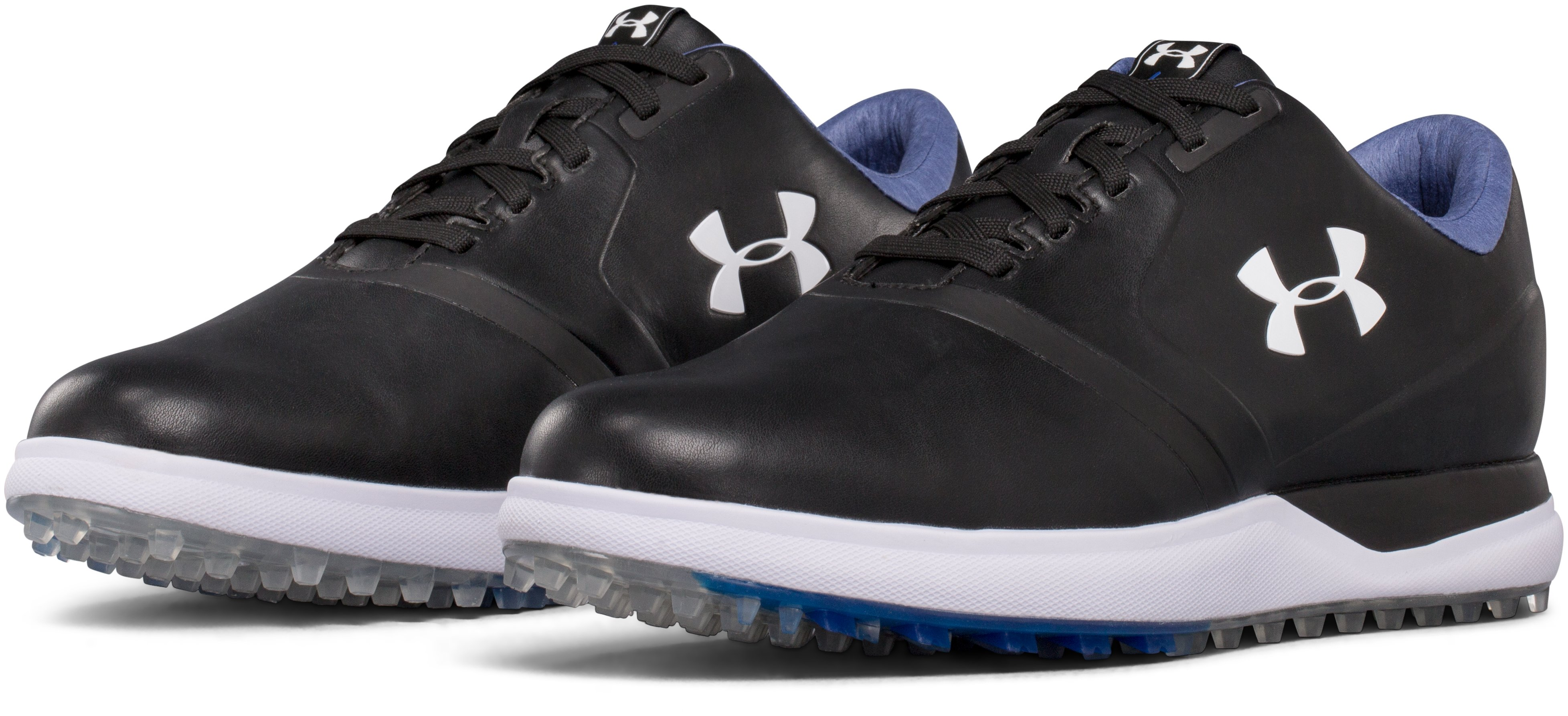 Men's UA Performance Spikeless – Extra Wide Golf Shoes, Black , undefined