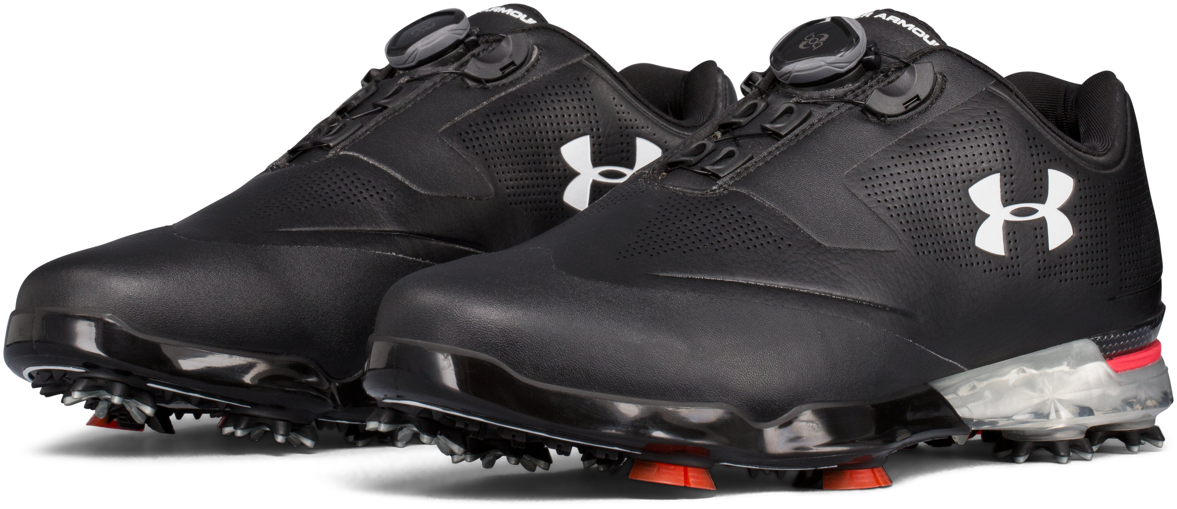 Men's UA Tour Tips BOA™ – Extra Wide Golf Shoes, Black , undefined