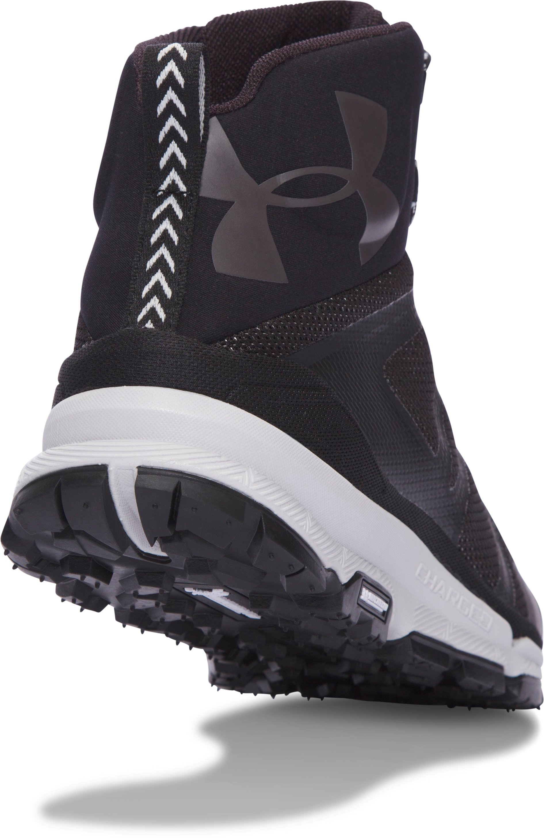 Men's UA Verge Mid Hiking Boots, Black , undefined