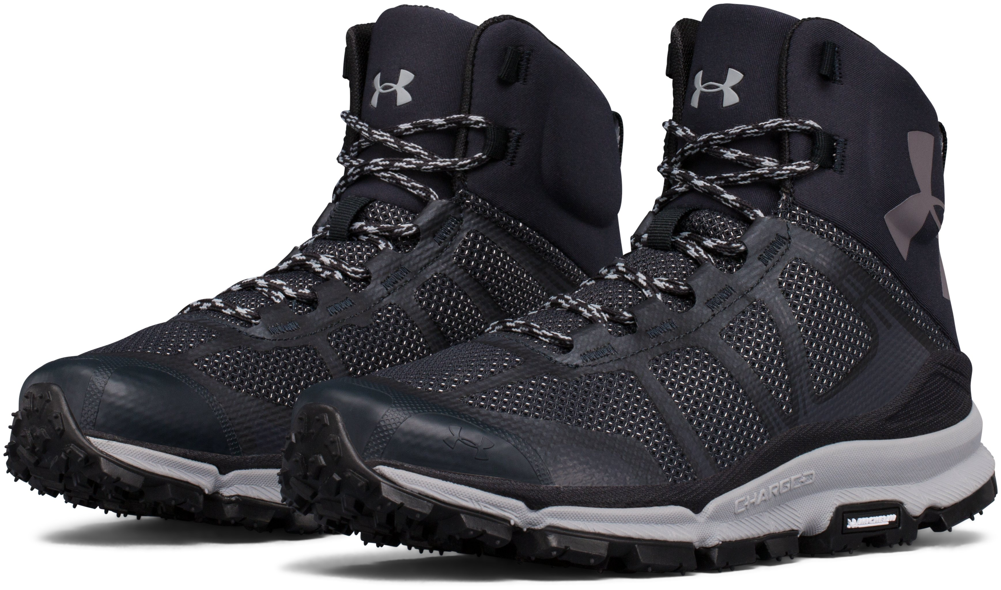 Women's UA Verge Mid Hiking Boots, ANTHRACITE, undefined