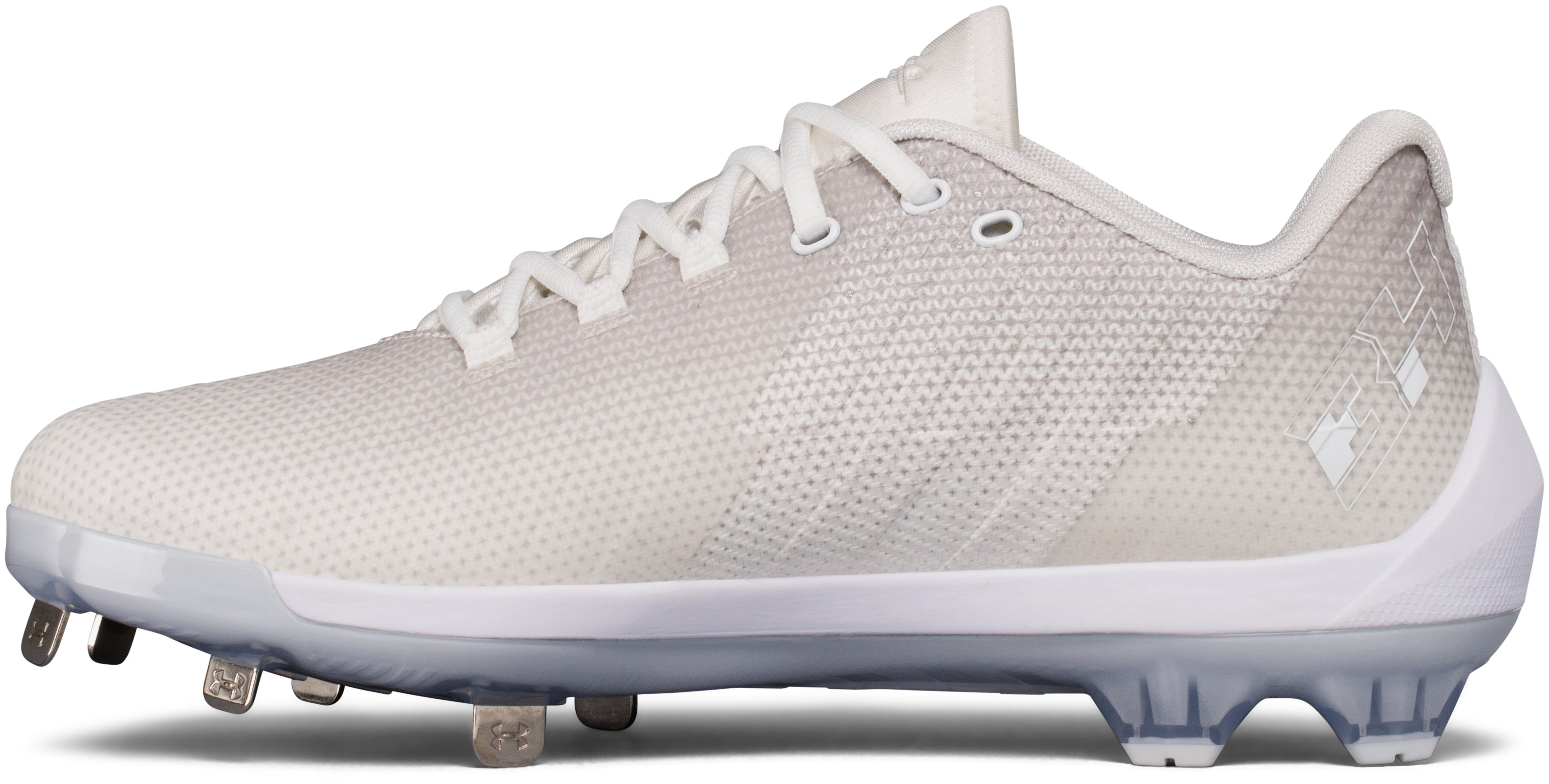 Men's UA Harper 2 Low ST Baseball Cleats, White, undefined