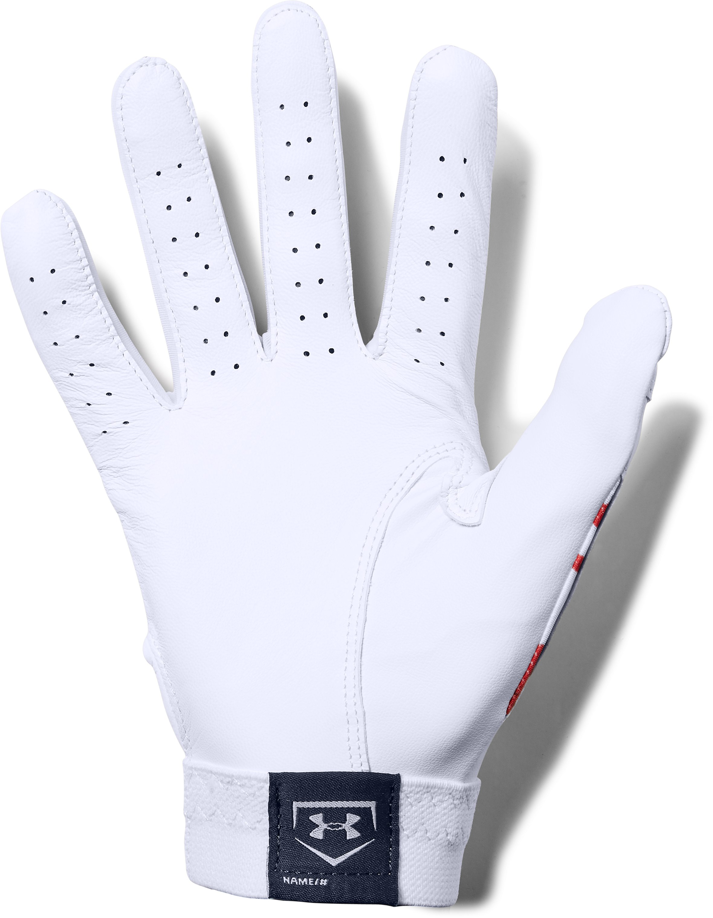 Men's UA Clean Up Printed Baseball Gloves, White,