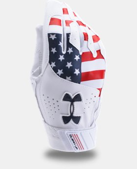 New Arrival Boys' UA Clean Up Printed Baseball Gloves  1 Color $24.99