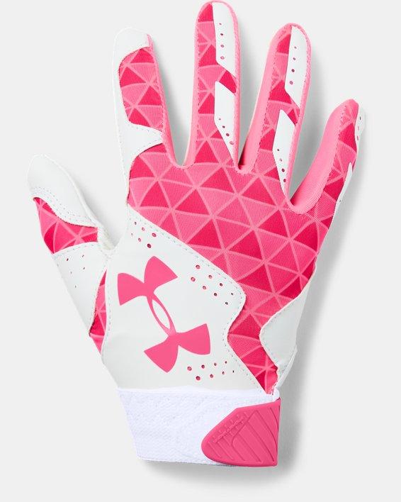 Women's UA Radar Softball Gloves, White, pdpMainDesktop image number 0