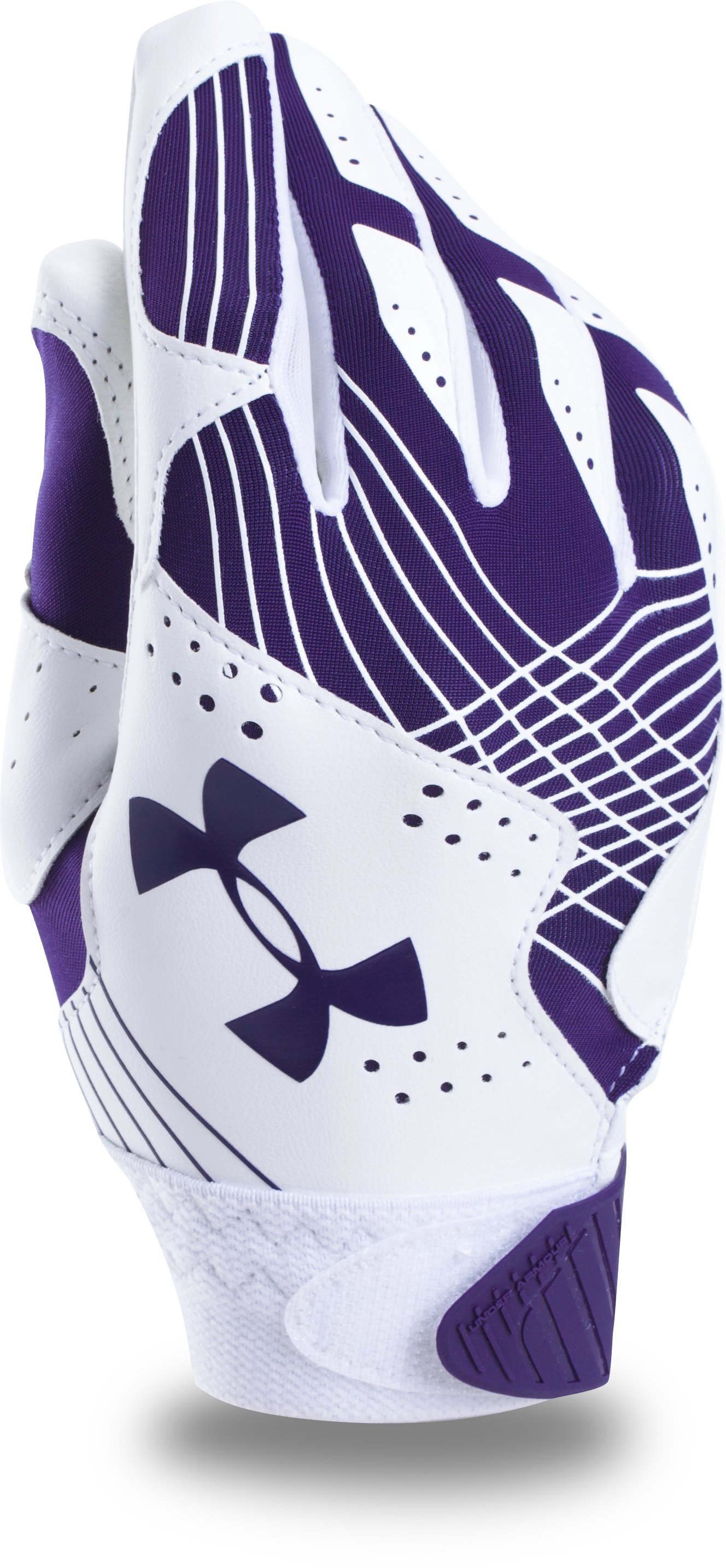 Girls' UA Radar Softball Gloves, Purple