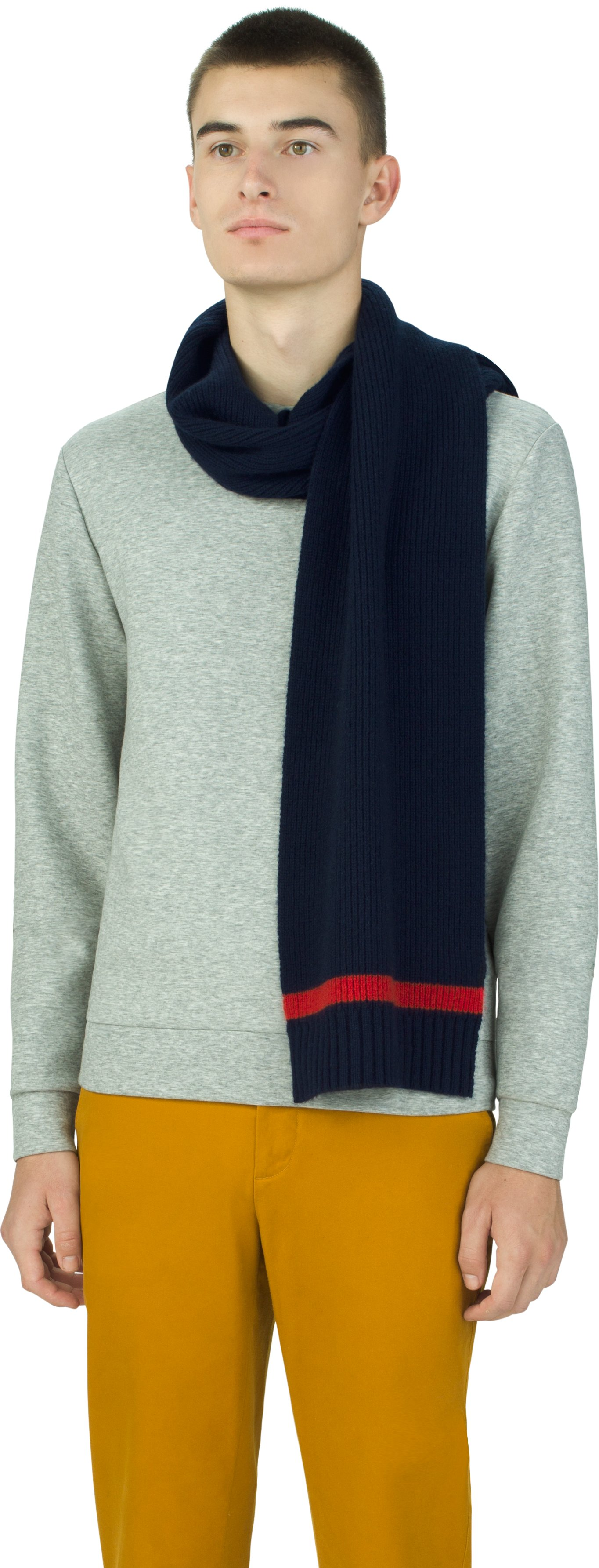 UAS Assembly Knit Scarf, Navy, undefined