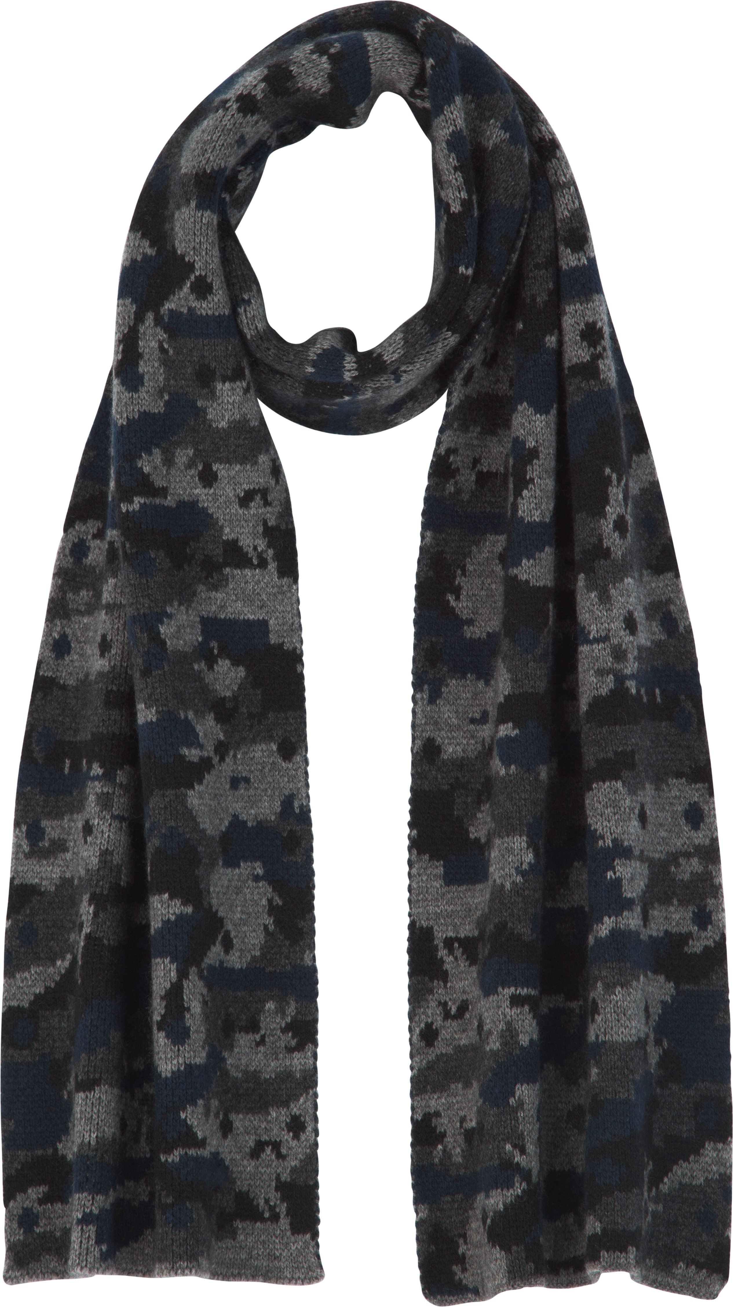 UAS Assembly Camo Knit Scarf, Navy, undefined