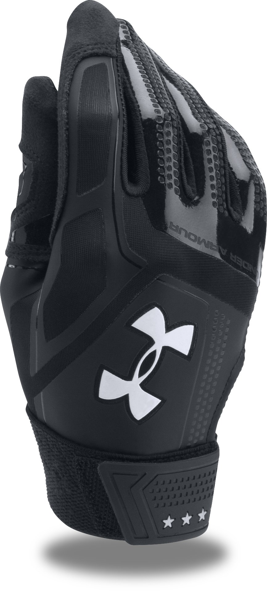 Boys' UA Heater Baseball Gloves, Black ,