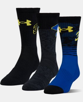 Best Seller Men's SC30 Phenom Crew Socks – 3-Pack  2 Colors $22