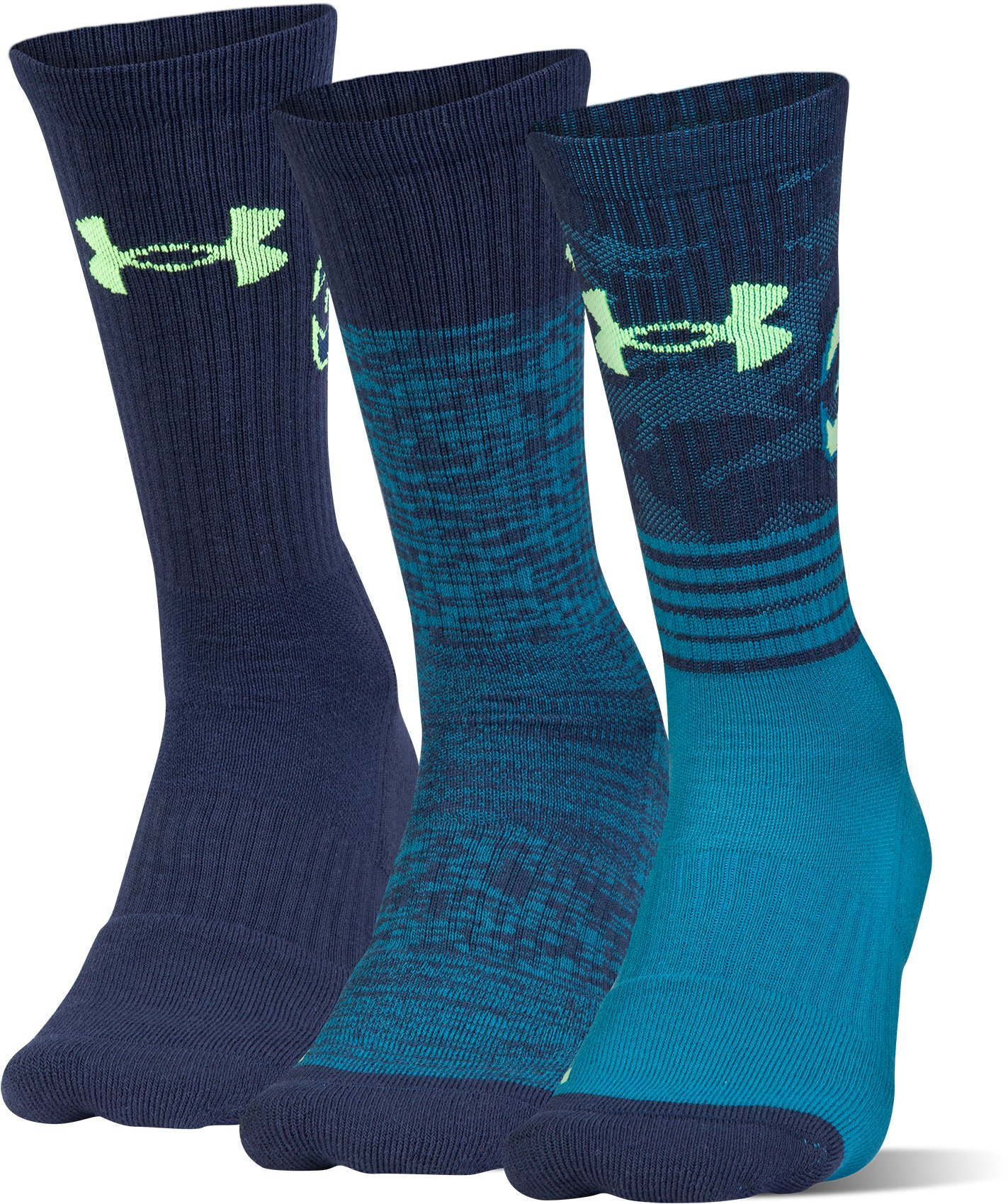 Men's SC30 Phenom Crew Socks – 3-Pack, BAYOU BLUE