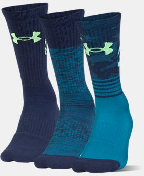 Men's SC30 Phenom Crew Socks – 3-Pack  1 Color $26.99