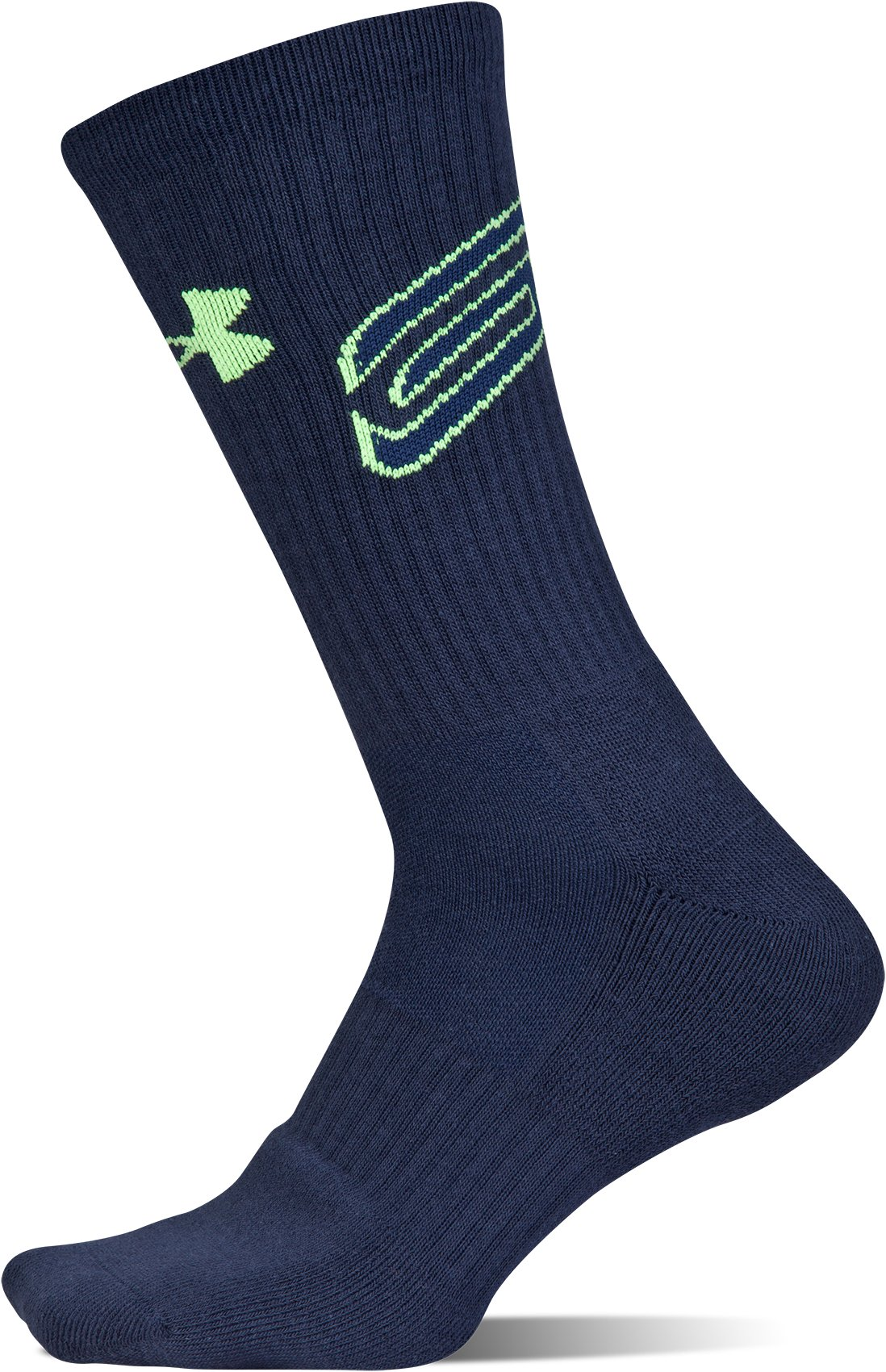 Men's SC30 Phenom Crew Socks – 3-Pack, BAYOU BLUE,