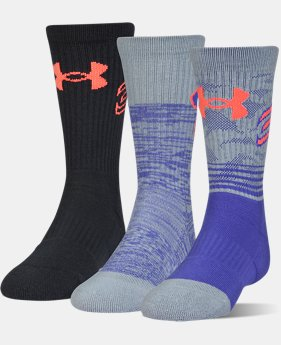 Boys' SC30 Phenom Crew Socks – 3-Pack  1 Color $21