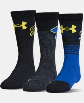 Boys' SC30 Phenom Crew Socks – 3-Pack  2  Colors Available $18.99