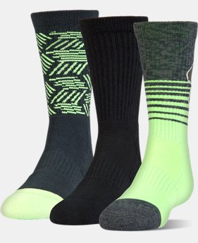 Boys' SC30 Phenom 2.0 Crew Socks – 3-Pack  4 Colors $21.99