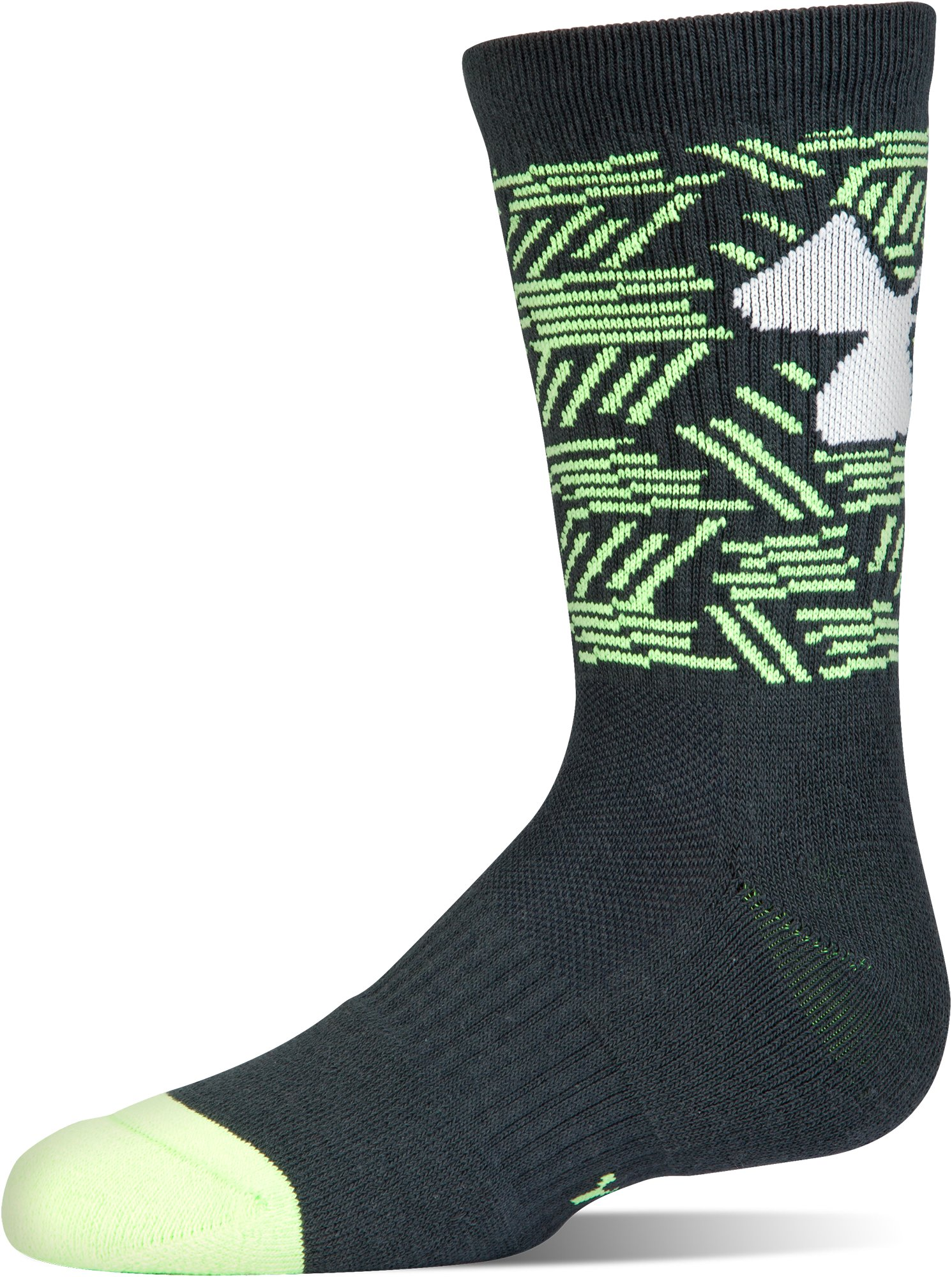 Boys' SC30 Phenom 2.0 Crew Socks – 3-Pack, STEALTH GRAY, undefined