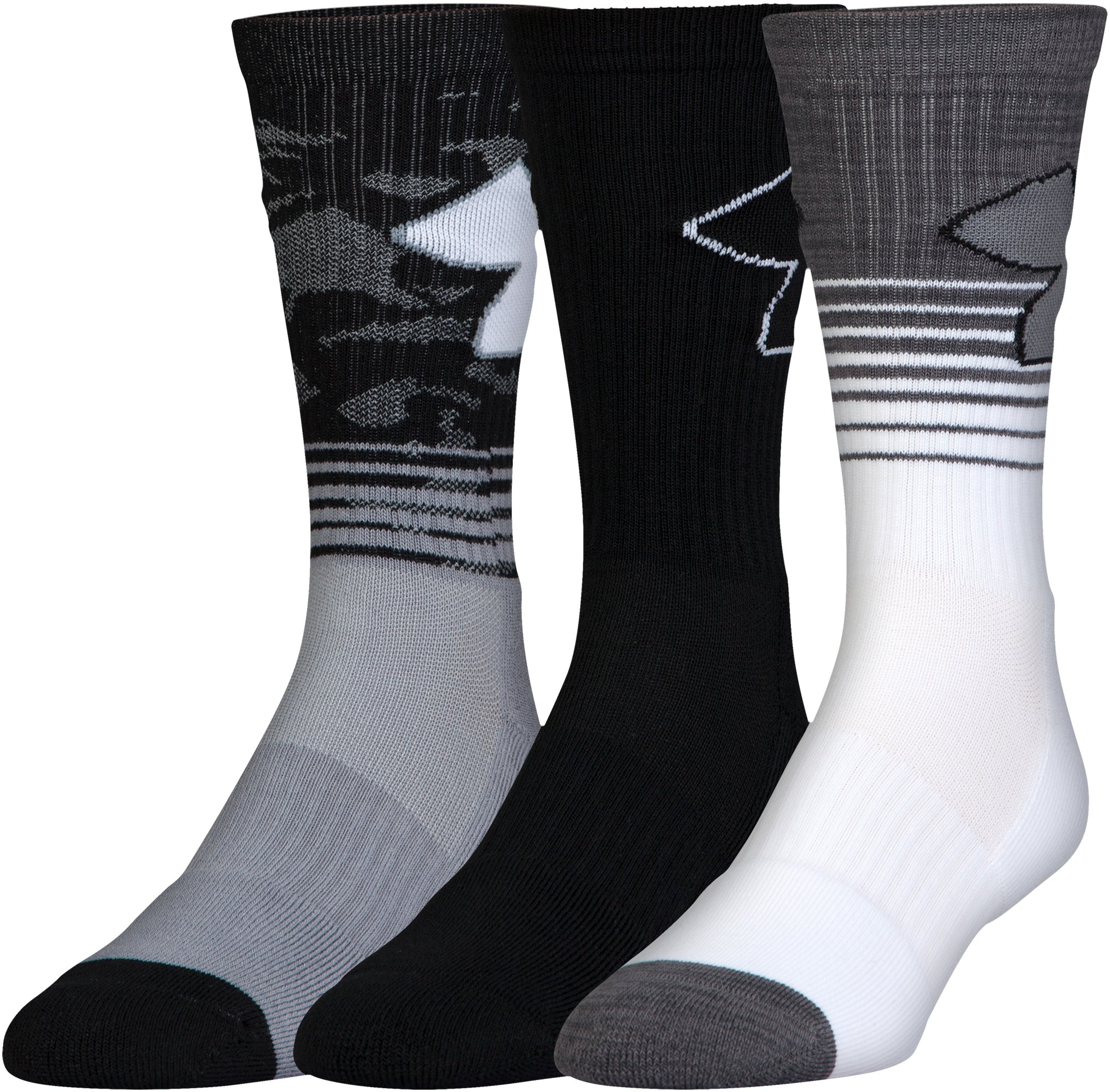Boys' SC30 Phenom 2.0 Crew Socks – 3-Pack, Steel