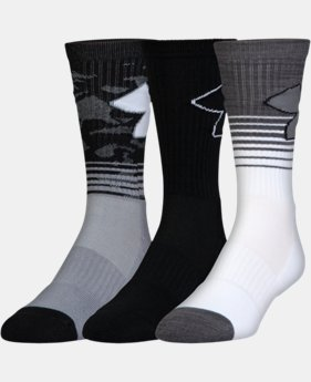 Boys' SC30 Phenom 2.0 Crew Socks – 3-Pack  3  Colors Available $19
