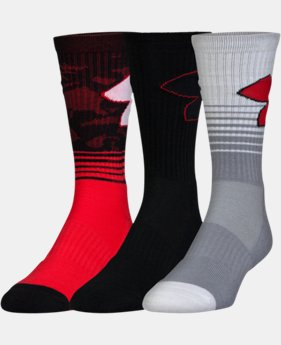 Boys' SC30 Phenom 2.0 Crew Socks – 3-Pack  1 Color $21.99