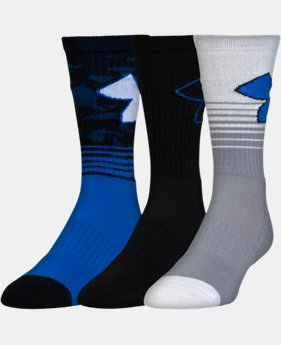 Boys' SC30 Phenom 2.0 Crew Socks – 3-Pack  2 Colors $19