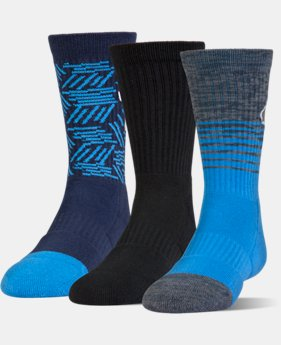 Boys' SC30 Phenom 2.0 Crew Socks – 3-Pack  1 Color $19