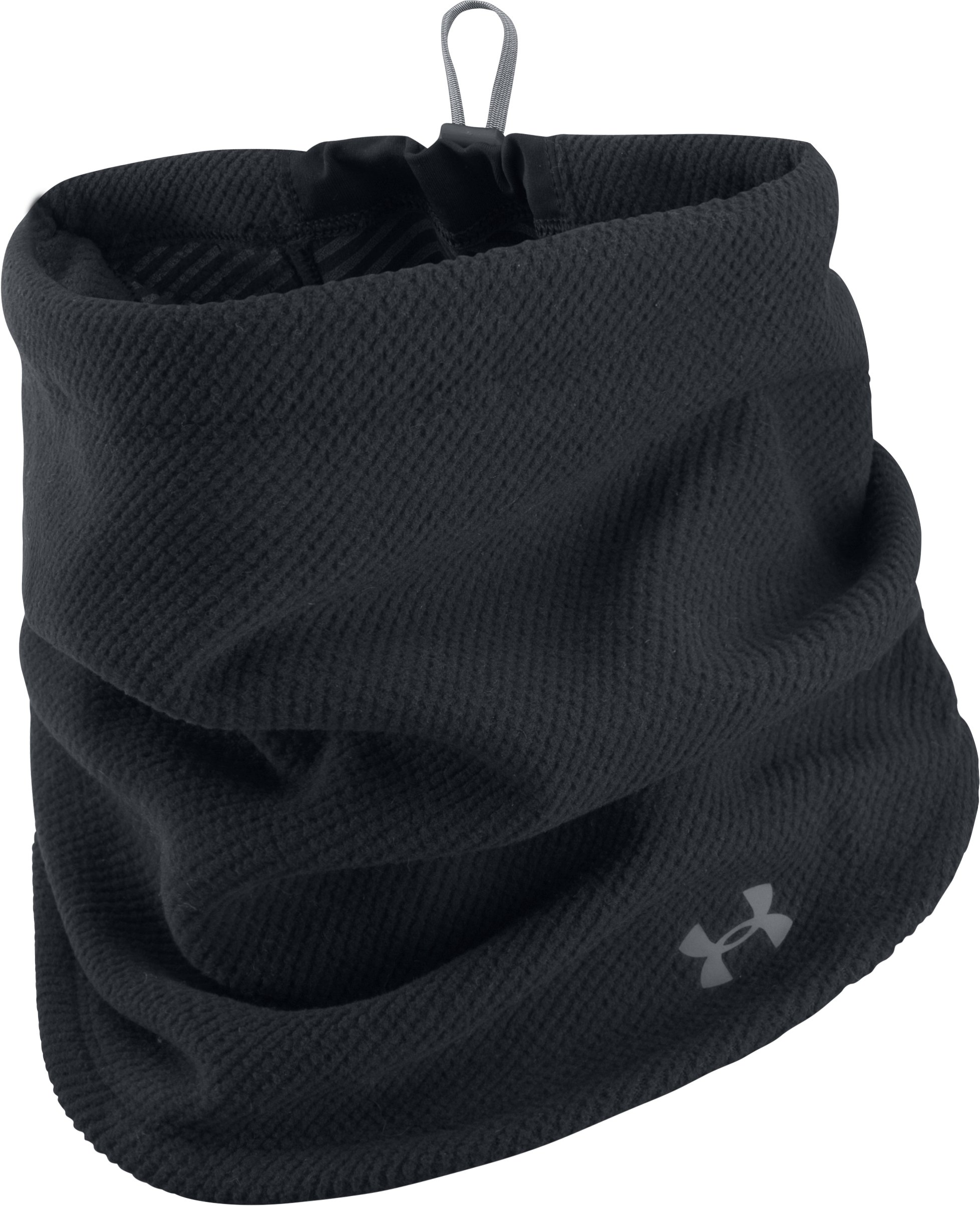 Women's ColdGear® Infrared Fleece Gaiter, Black , undefined