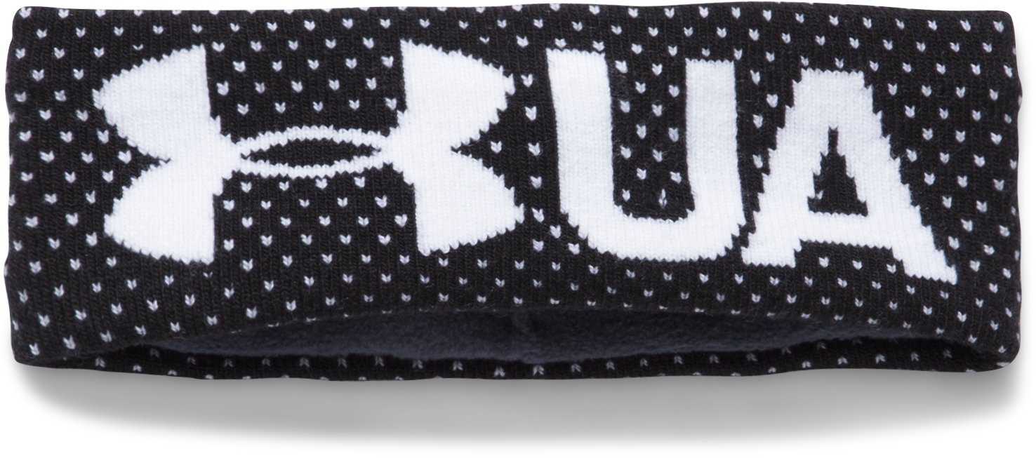 Girls' UA Favorite Fleece Headband, Black ,