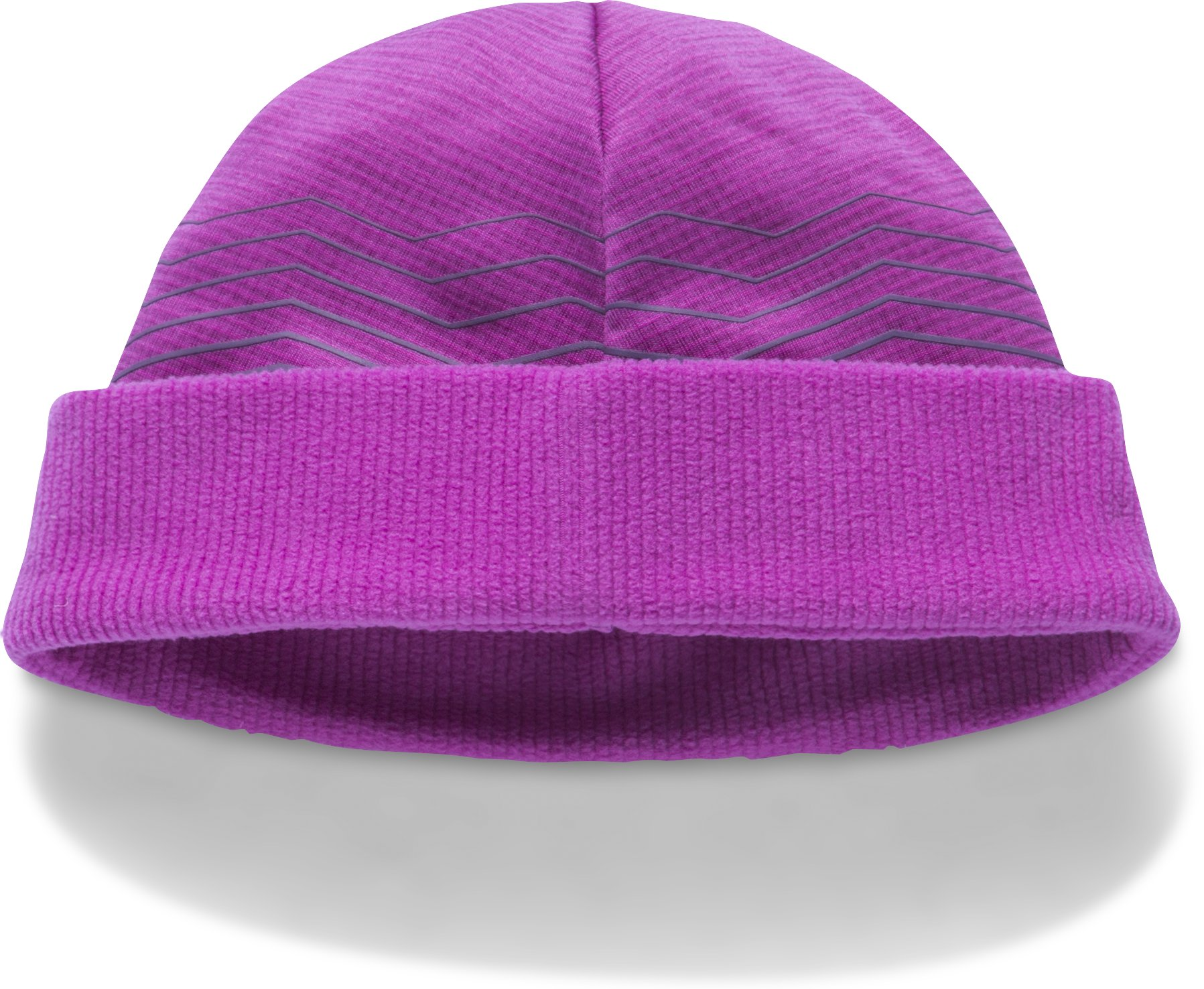 Girls' ColdGear® Reactor Fleece Beanie, PURPLE RAVE,