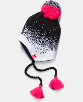 New to Outlet Girls' UA Tassel Beanie LIMITED TIME OFFER 1 Color $17.49